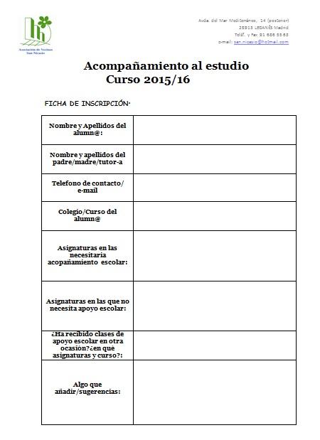 Ficha compañamiento al estudio 2015-16 AV San Nicasio