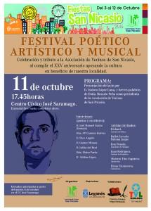 Festival poetico artistico y musical Asociacion Vecinos San Nicasio
