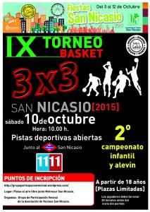 IX Torneo Basket 3x3 Asociacion Vecinos San Nicasio Grupo Participacion Vecinal
