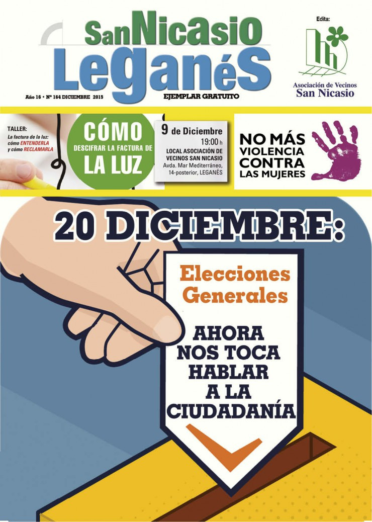 Revista nº164 - Diciembre 2015 - Asociación de Vecinos San Nicasio