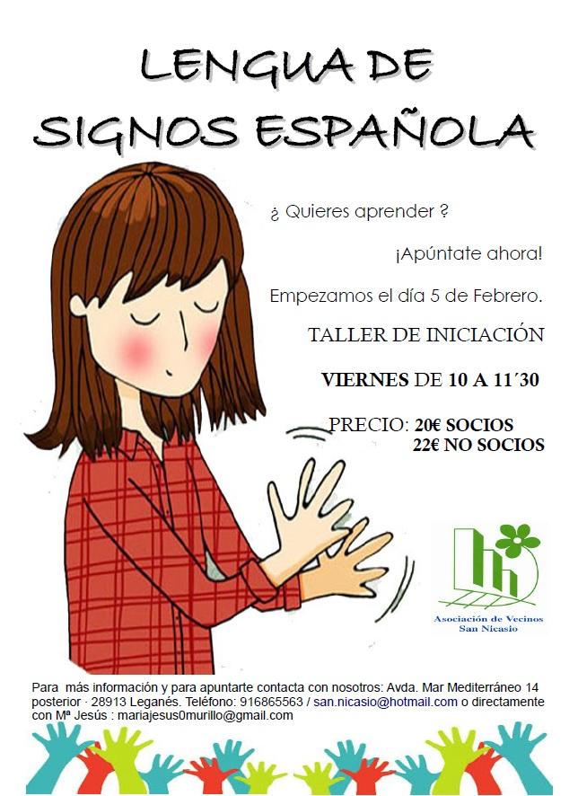 Clases de Lengua de Signos Española FEBRERO Asociación Vecinos San Nicasio