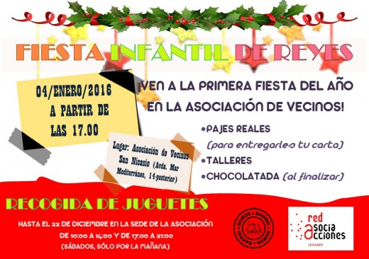 FIESTA INFANTIL DE REYES _ Enero 2016 - RED DE ASOCIACCIONES