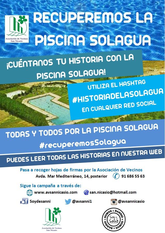 Cuentanos tu historia de la piscina solagua asociaci n for Piscina solagua leganes