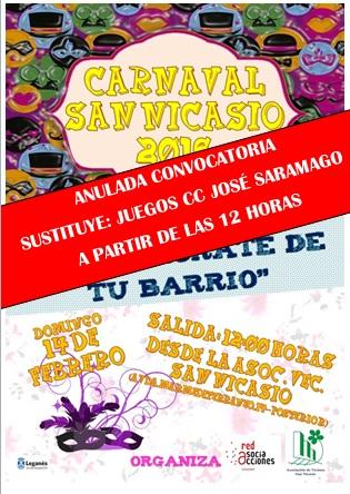 Pasacalles carnaval REENAMORATE DE TU BARRIO_ANULADO