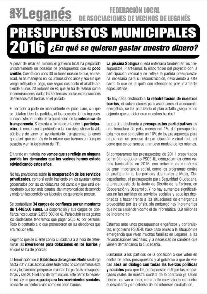 PRESUPUESTOS MUNICIPALES LEGANES 2016 (1)