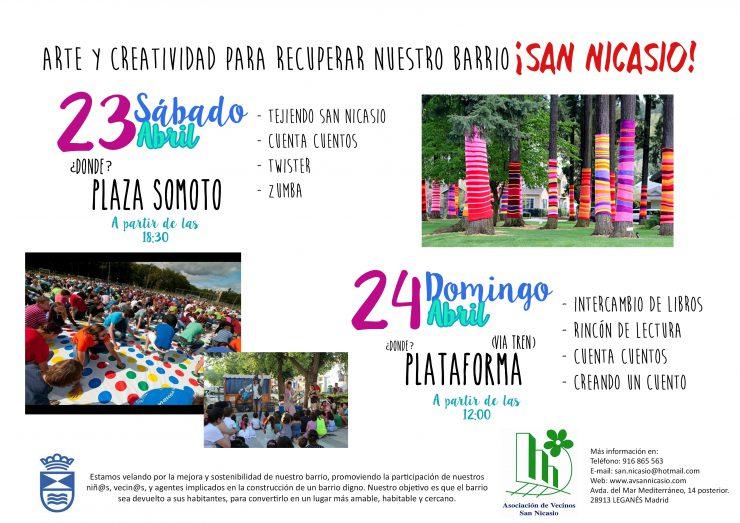 ARTE Y CREATIVIDAD PARA RECUPERAR NUESTRO BARRIO DE SAN NICASIO ASOCIACIÓN DE VECINOS SAN NICASIO