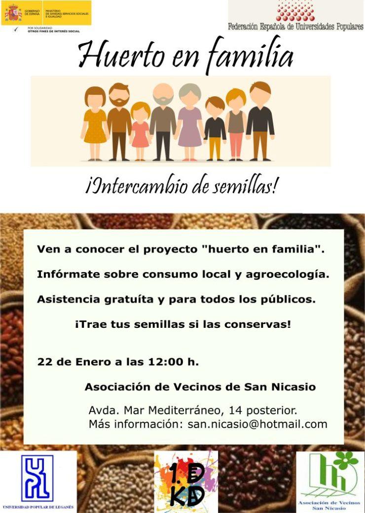 Taller Huerto en Familia ASOCIACIÓN DE VECINOS SAN NICASIO 1DECADA UNIVERSIDAD POPULAR DE LEGANÉS