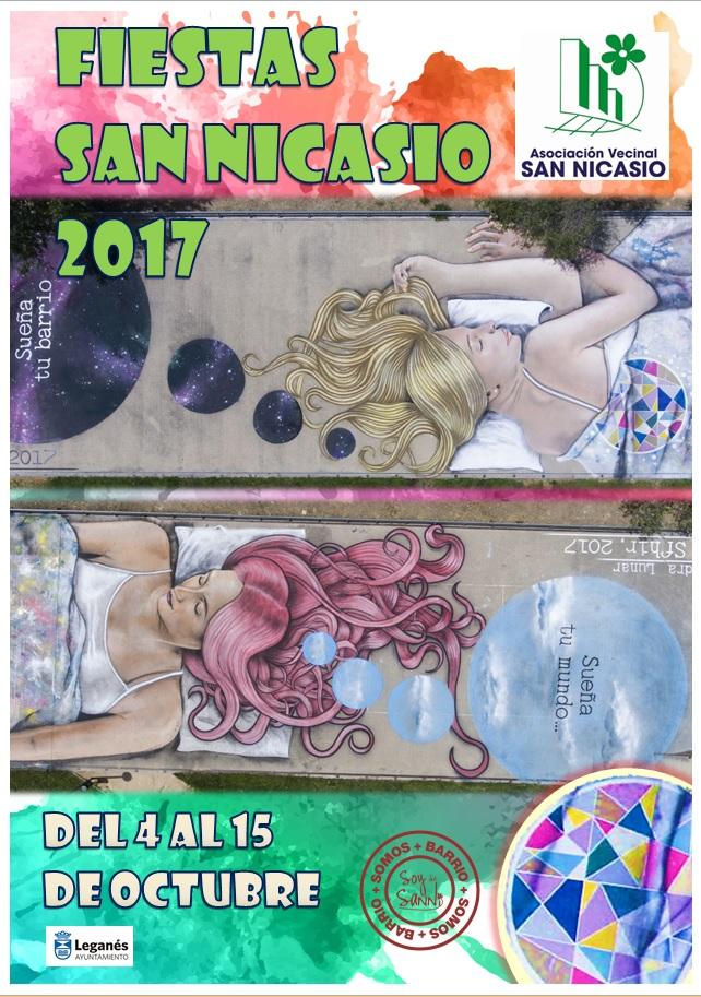 Cartel fiestas San Nicasio 2017 ASOCIACIÓN VECINAL SAN NICASIO