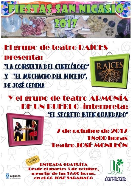 Teatro Raíces y Armonía de un pueblo ASOCIACIÓN DE VECINOS SAN NICASIO FIESTAS SAN NICASIO 2017