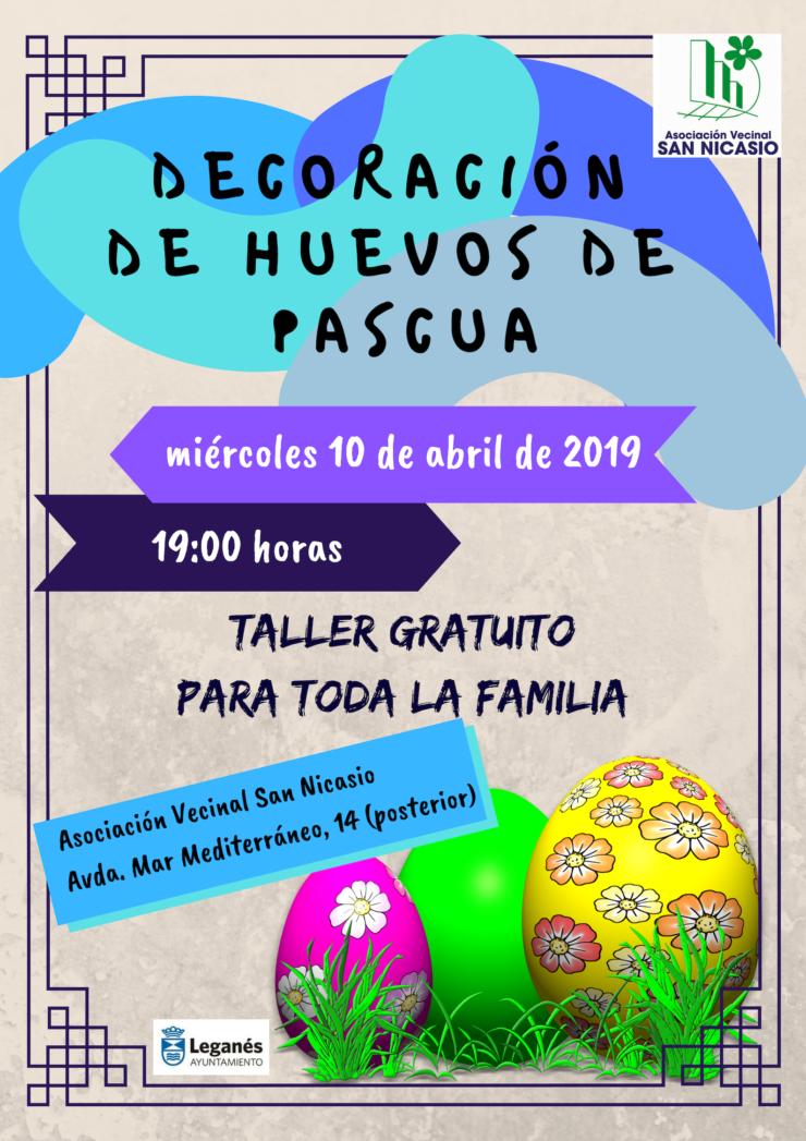 DECORACIÓN HUEVOS DE PASCUA ASOCIACIÓN VEINAL SAN NICASIO (2)